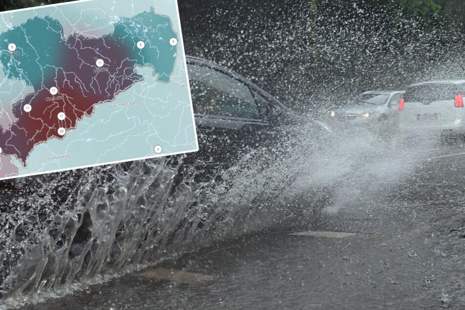 Tief Gisela: Sachsen erwarten Tage voller Regen