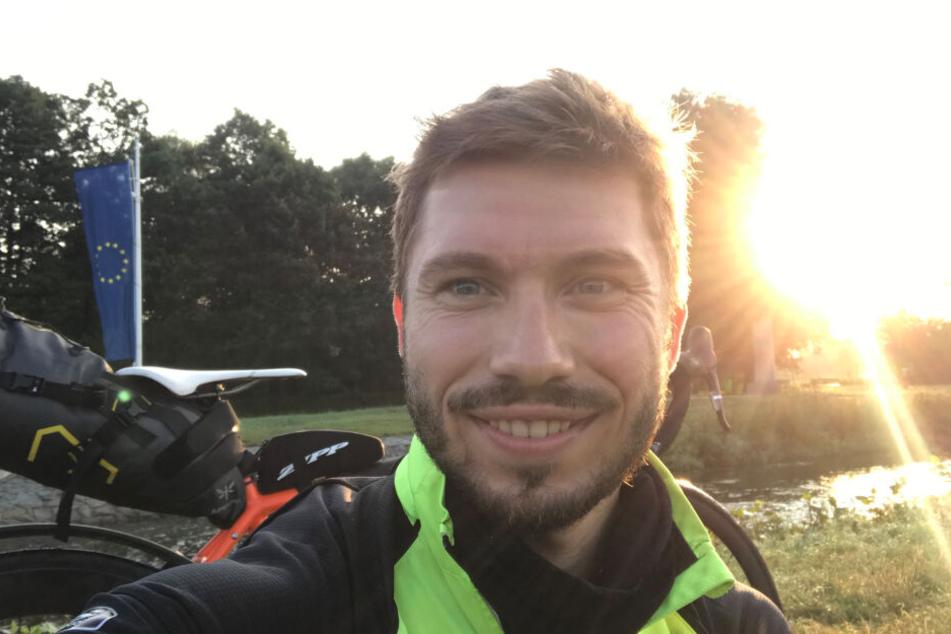Stefan Barth (29) war auf Europa-Radtour. Im Erzgebirge verschwand sein Bike.