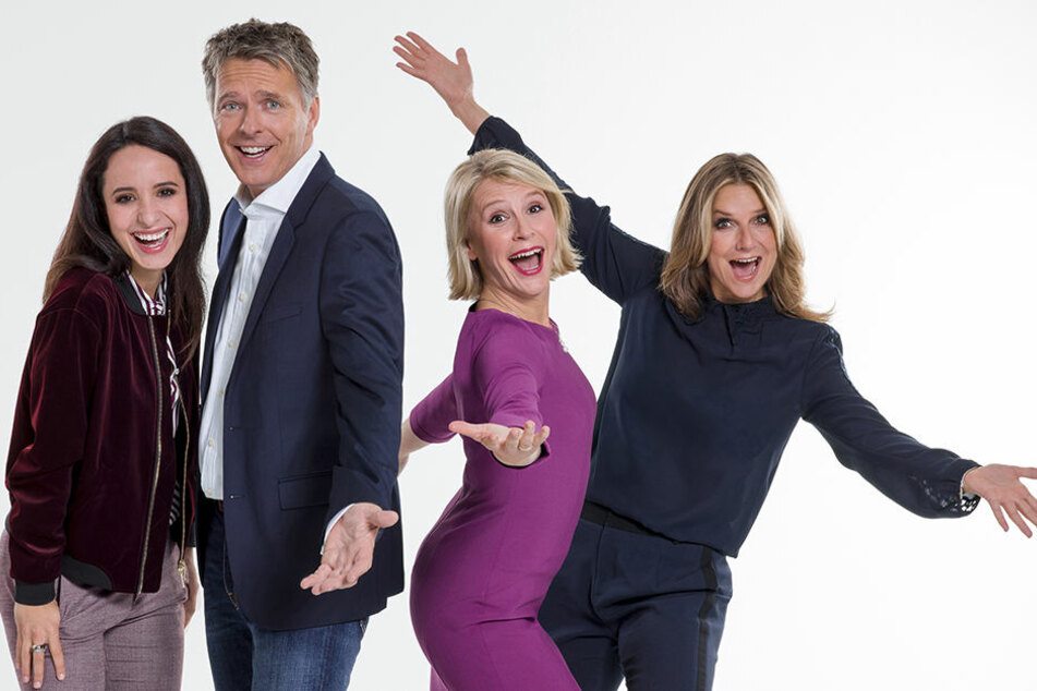 Sie sind heute die Gesichter der MDR-Talkshow: Stephanie Stumph (33), Jörg Pilawa (52), Susan Link (41) und Kim Fisher (48).