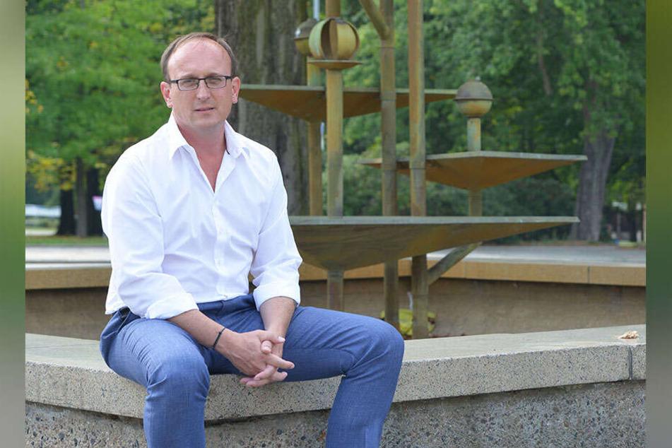 Stadtrat Jörg Vieweg (48, SPD) trieb Geld für den Klapperbrunnen auf.