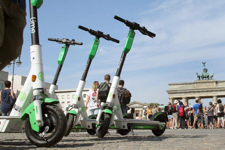 In Berlin kann man die E-Scooter bereits ausleihen.