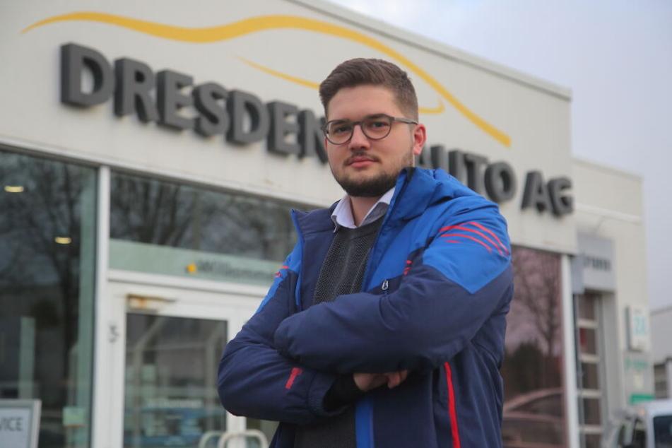 Maximilian Kunze (23) muss jetzt wohl auf die Rallye-Teilnahme verzichten.