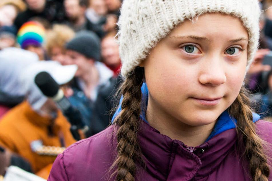 Das Foto zeigt die Klimaaktivistin Greta Thunberg bei einer Demonstration in Hamburg am 1. März.