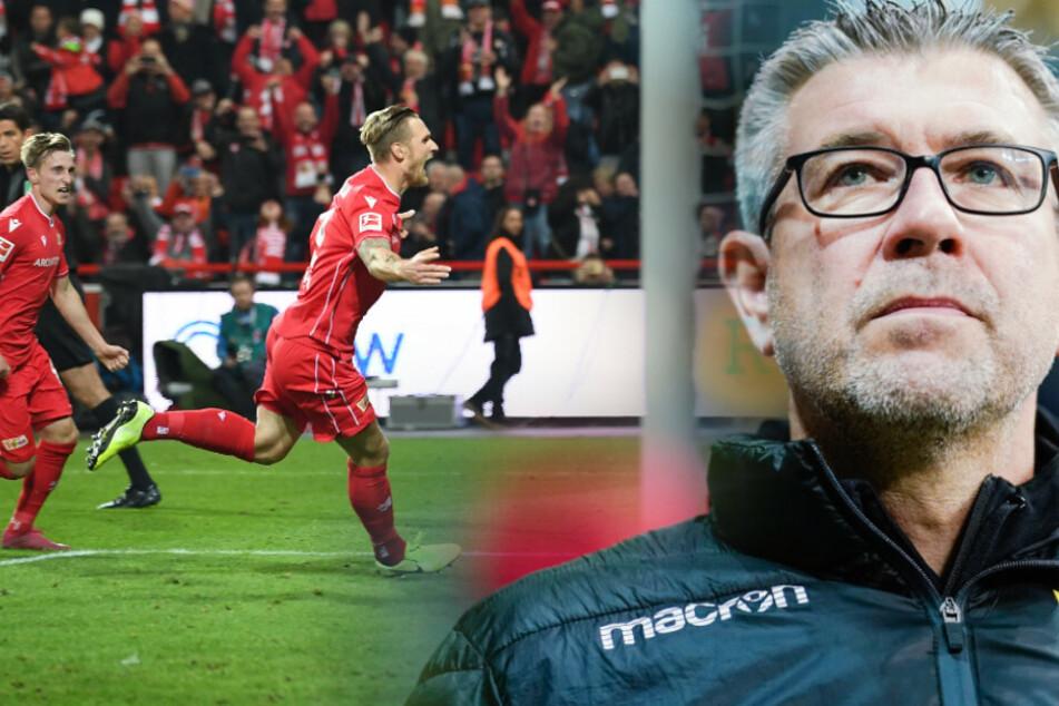Urs Fischer (r) wird gegen Hertha BSC wieder an der Seitenlinie stehen.