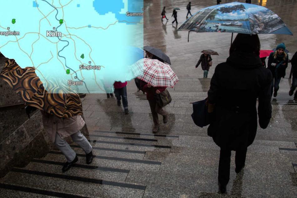 Schmuddel-Wetter in NRW am ersten Wochenende des Jahres erwartet