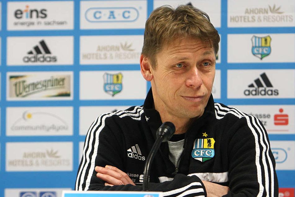 Sven Köhler schaut zufrieden drein ob der bisherigen Vorbereitung.
