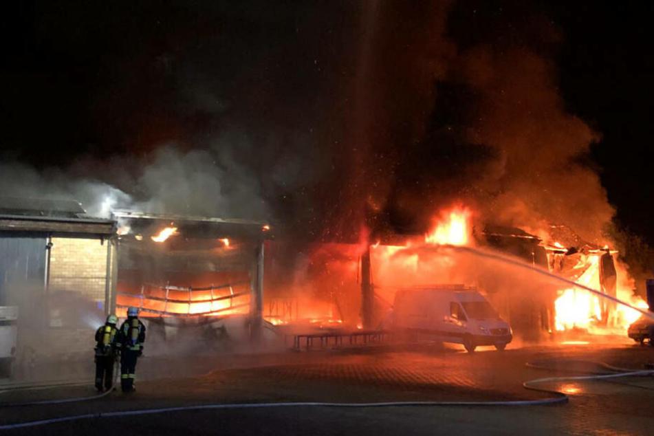 Feuer-Inferno in Betrieb bei Fulda: 1,2 Millionen Euro Schaden