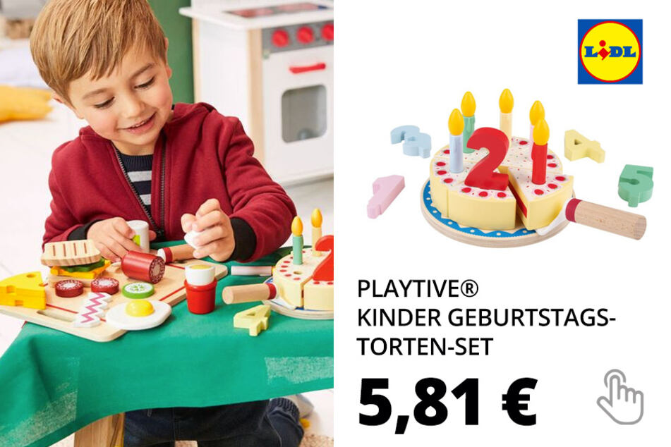 PLAYTIVE® Kinder Geburtstagstorten-Set
