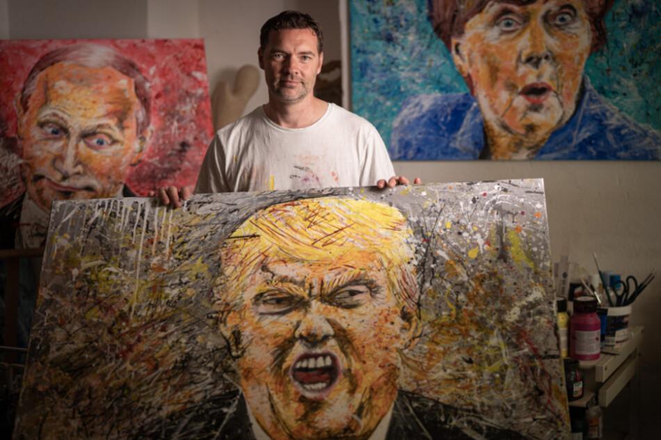 """Dresdner Maler """"Spandlitz"""" über seine Gefühls-Werke: Kunst aus posenden Politikern"""