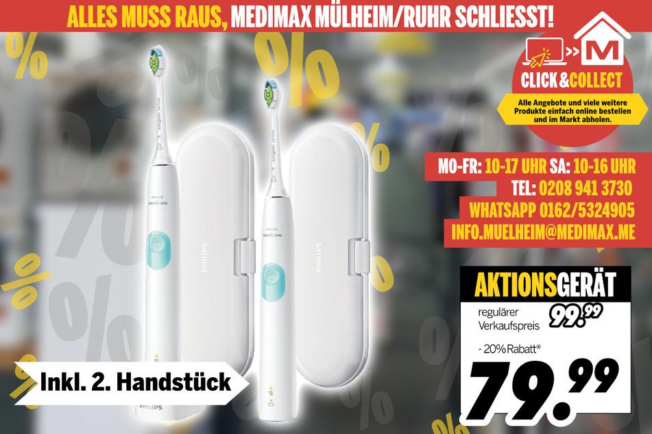 Elektrische Zahnbürste von Philips (2er Set) für 79,99 Euro