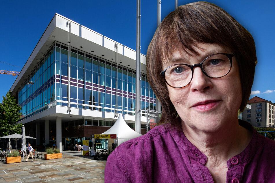 Kathrin Schmidt (63) tritt im Kulturpalast am Freitag erstmals als neue Dresdener Stadtschreiberin auf.