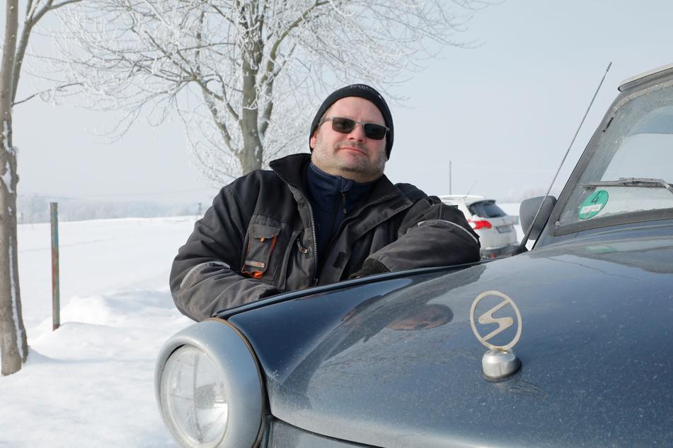 Heiko Martin (47) ist stolz auf seinen Trabant-Umbau.
