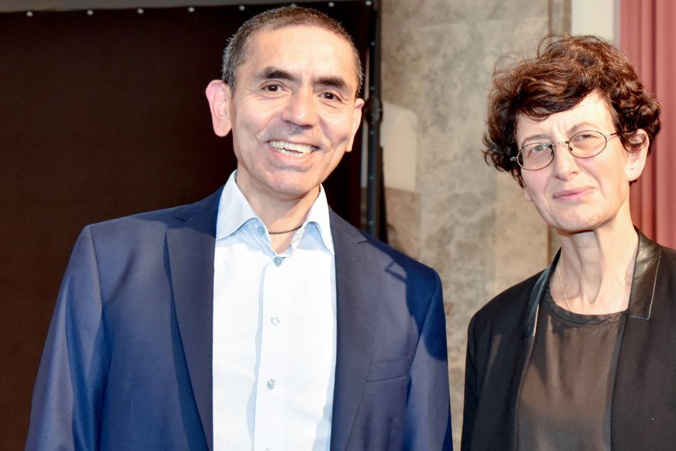 Ugur Sahin (56, l.) und Özlem Türeci (54), die Gründer des Corona-Impfstoff-Entwicklers Biontech, könnten einen Preis einheimsen.