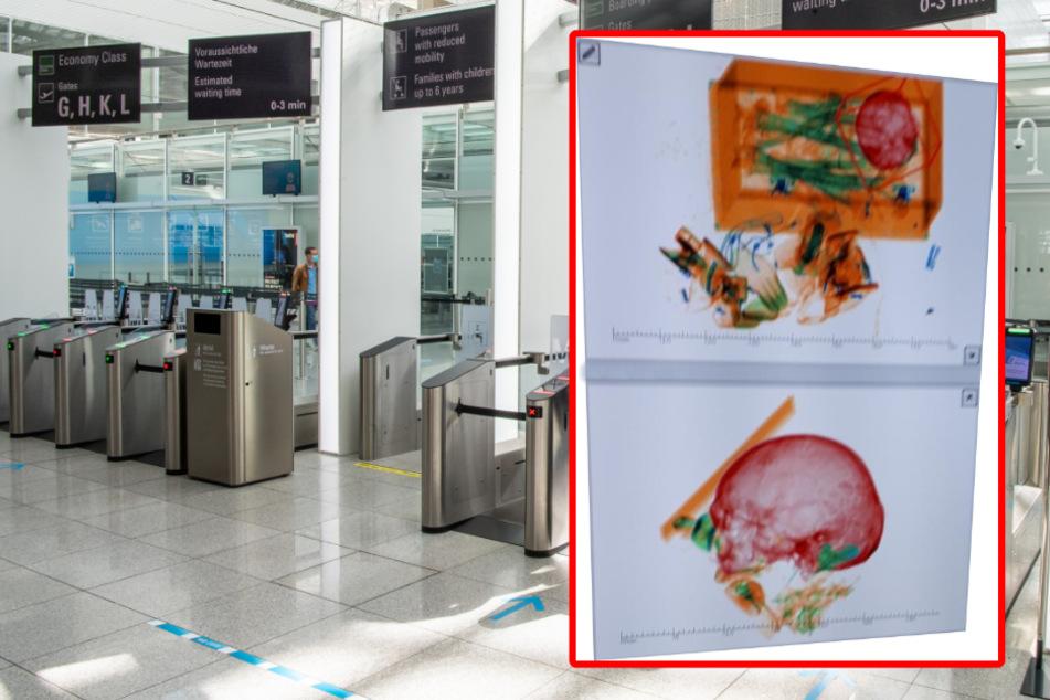 München: Aufruhr am Münchner Flughafen: Frau hat Skelett von Ehemann im Gepäck