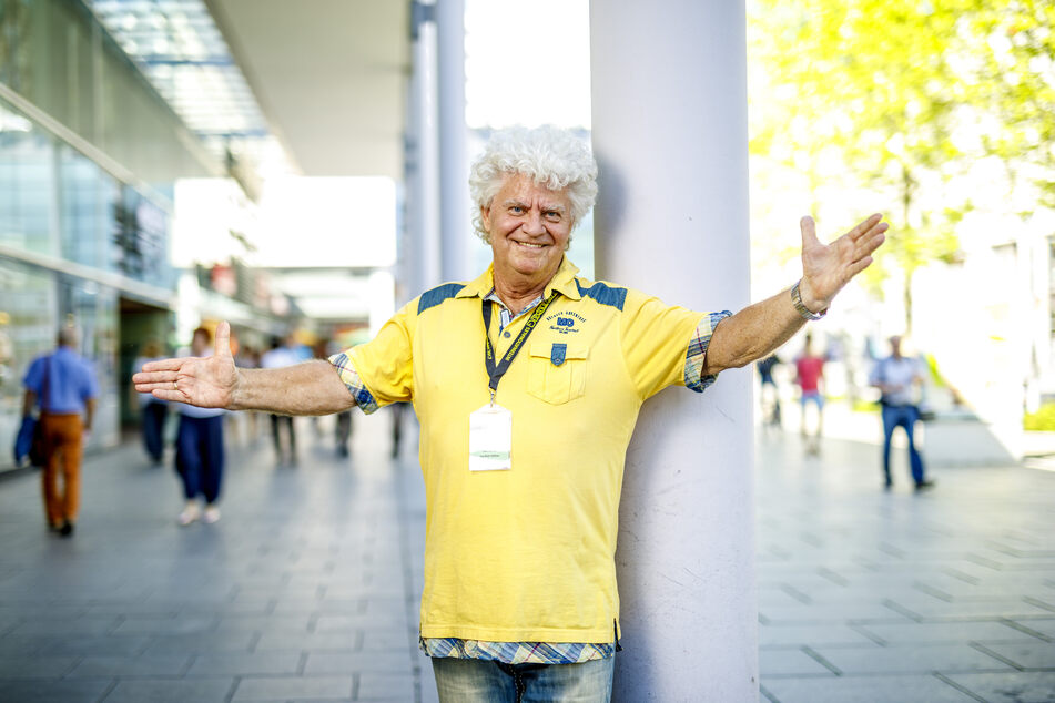 Joachim Schlese (80) ist froh, dass er in diesem Jahr doch noch ein kleines Dixieland Festival veranstalten kann.