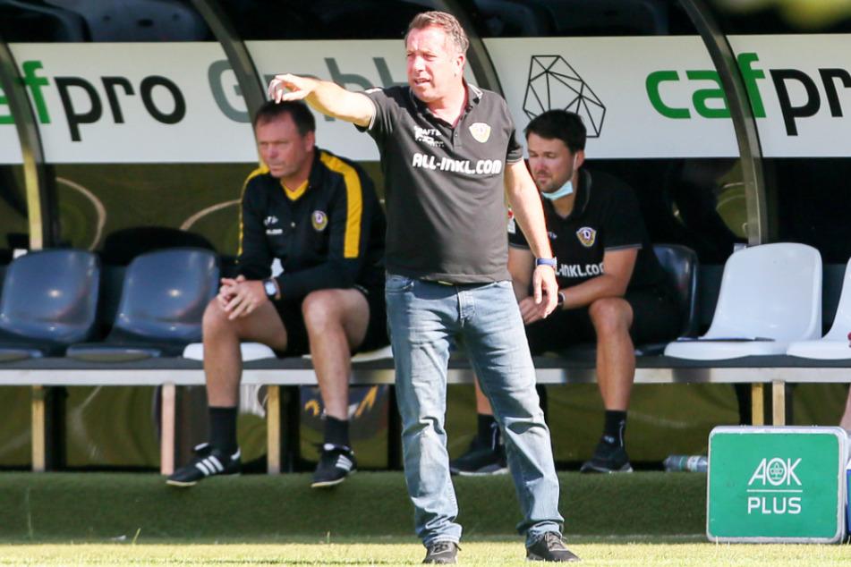 Markus Kauczinski bestätigte nach dem Sieg in Sandhausen, dass er Trainer in Dresden bleibt.