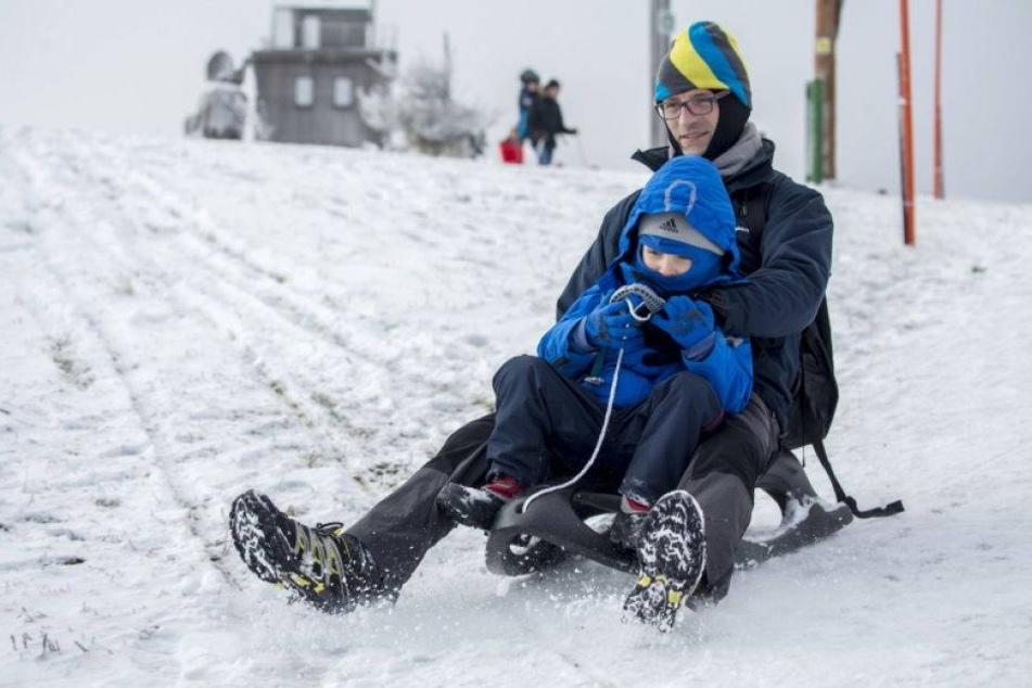 Neues Jahr startet mit Frost und Schnee in Sachsen