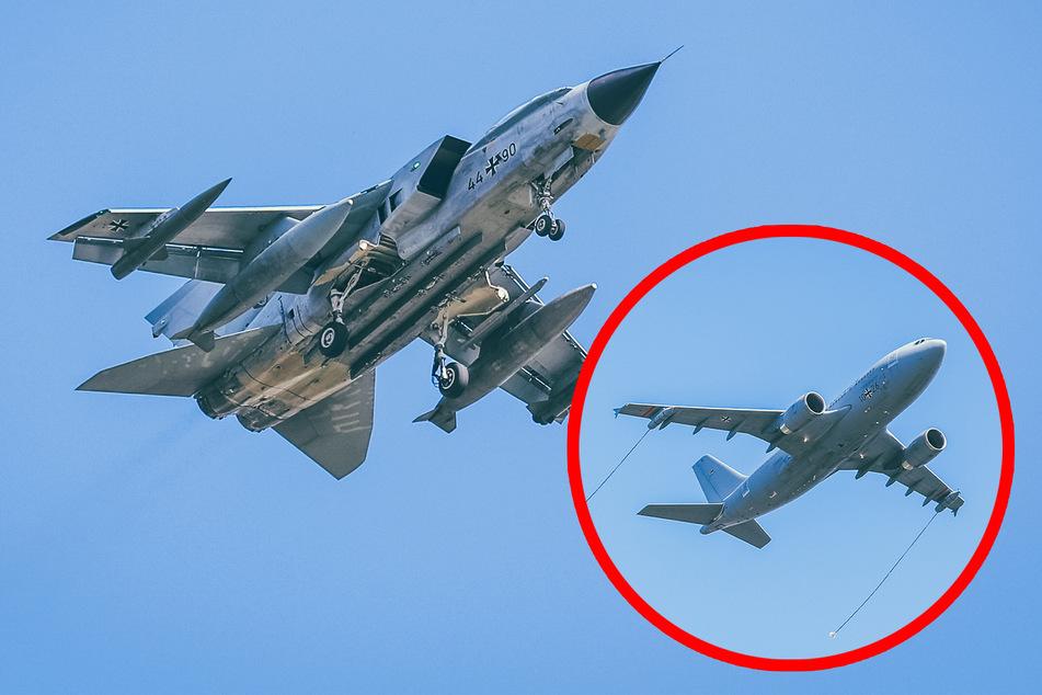 Dresden: Airbus wird über Dresden von zwei Tornado-Kampfjets begleitet: Das hat es damit auf sich!