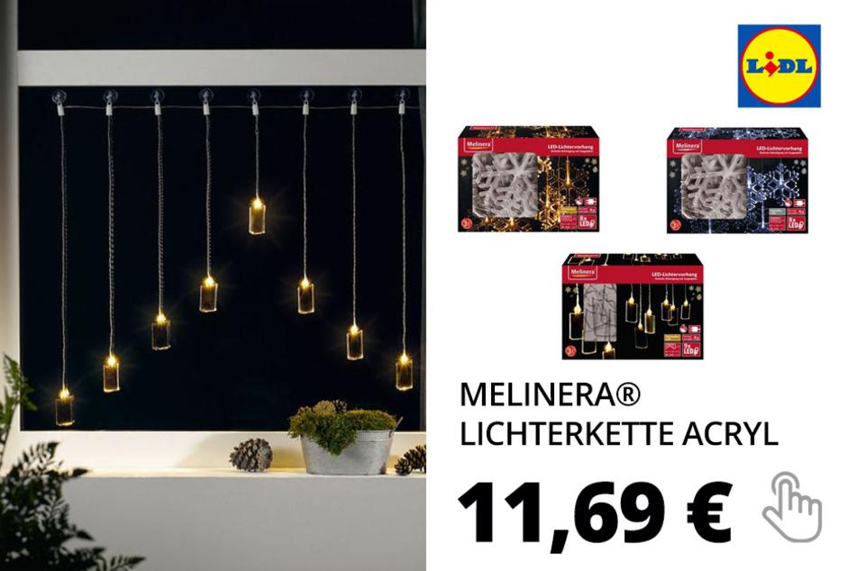 Lichterkette Acryl, mit Saugnäpfen– Nur online!
