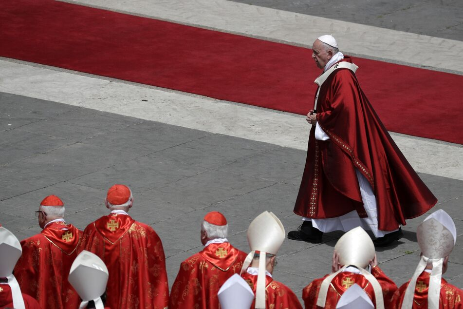 Papst Franziskus bei der Pfingstmesse 2019 im Vatikan.