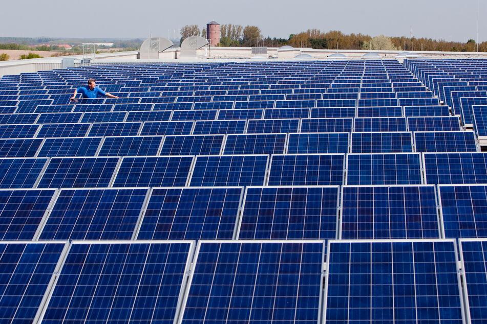 Die Regel, dass neu gebaute offene Parkplätze mit einer Photovoltaik-Anlage überdacht werden müssen, wird zunächst auf Gewerbeflächen beschränkt. (Symbolfoto)