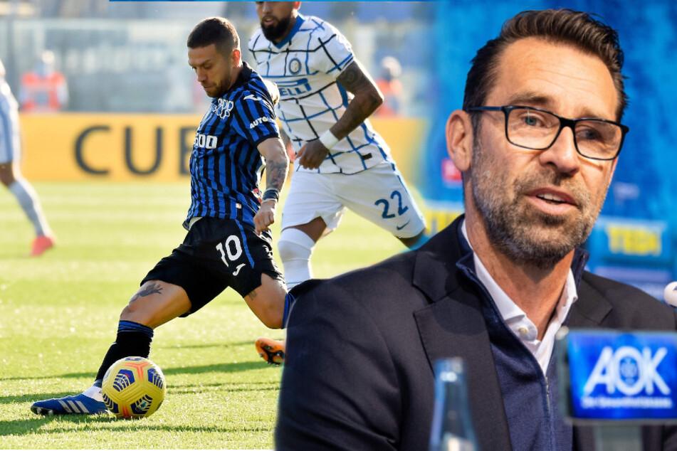Hertha BSC soll sich offenbar für Papu Gomez (32) von Atalanta Bergamo interessieren. Michael Preetz (53) sucht eine Soforthilfe. (Bildmontage)