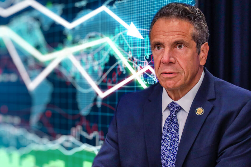 New York Governor Andrew Cuomo and his top aides reportedly concealed the true number of Covid-19 deaths of the state's nursing home residents (collage, stock image).