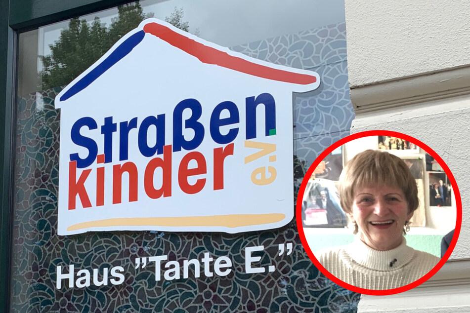 """Das Haus """"Tante E."""" wurde von Gabi Edler (77) gegründet, um Leipzigs Straßenkindern zu helfen."""