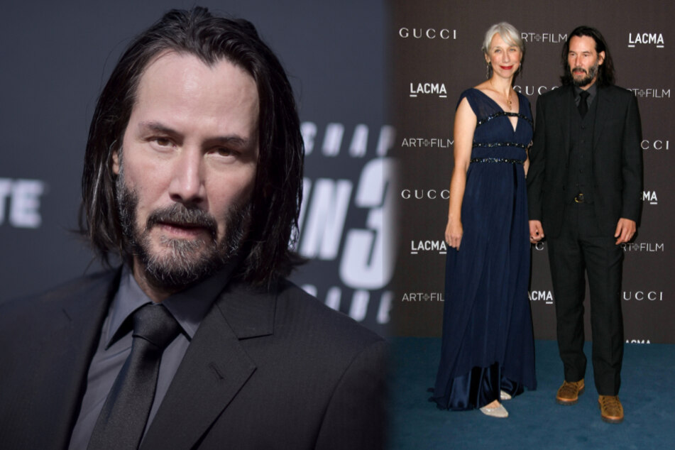 Keanu Reeves in love: star kisses girlfriend as shooting for Matrix 4 continues
