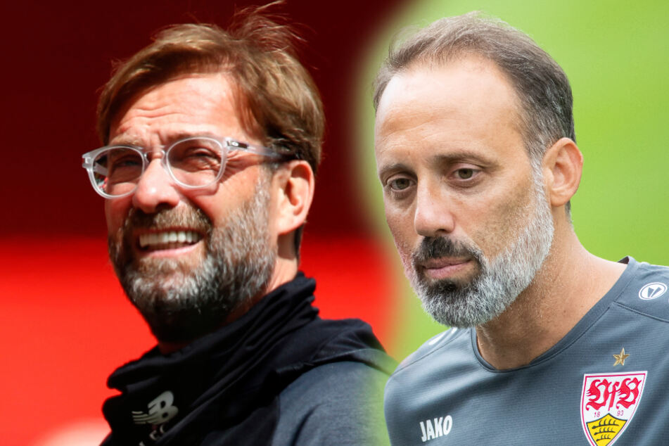 Liverpools Trainer Jürgen Klopp (links) und VfB-Coach Pellegrino Matarazzo. (Montage)