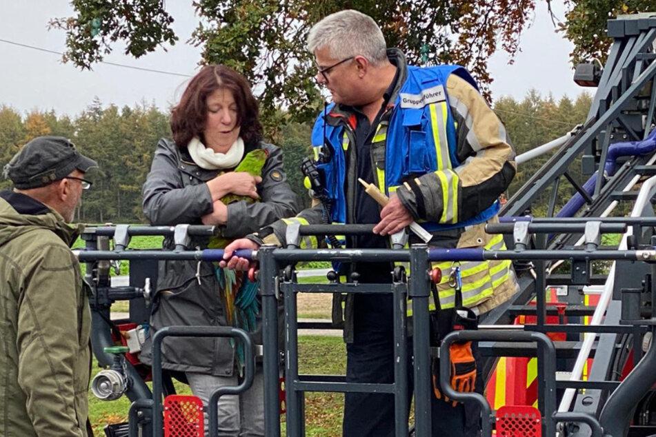 Die Feuerwehr in Bocholt wurde am Sonntagmorgen zu einem tierischen Rettungseinsatz gerufen. Ein Ara war entflogen und musste aus 30 Metern Höhe gerettet werden.