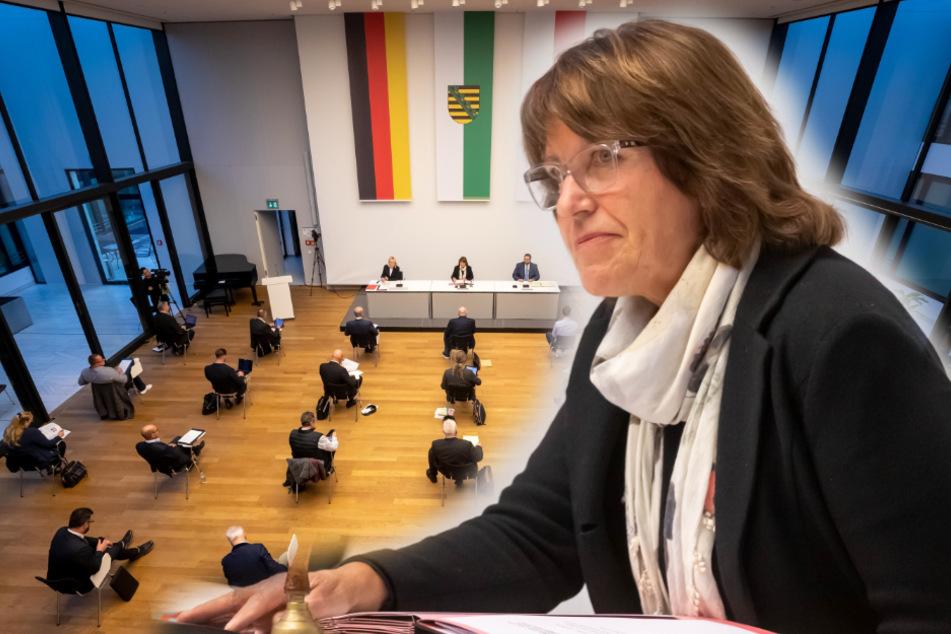 Pia Findeiß (64, SPD) war zwölf Jahre lang Oberbürgermeisterin von Zwickau. Gestern leitete sie den Stadtrat zum letzten Mal. (Fotomontage)