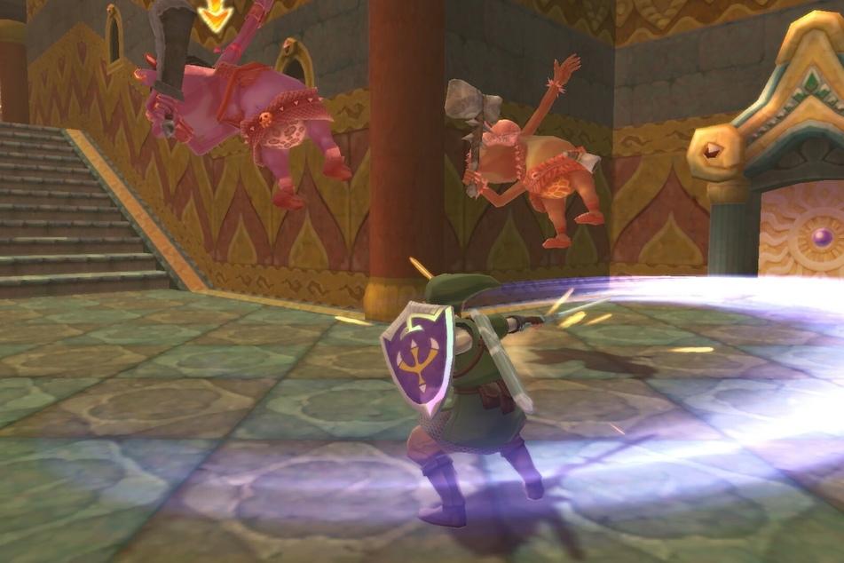 Spielt Ihr im Handheld-Modus, ist die Bewegungssteuerung, die man noch aus der Wii-Vergangenheit kennt, Geschichte. Dennoch verlangt es etwas Übung, bis perfekt koordinierte Schwerthiebe gelingen wollen.