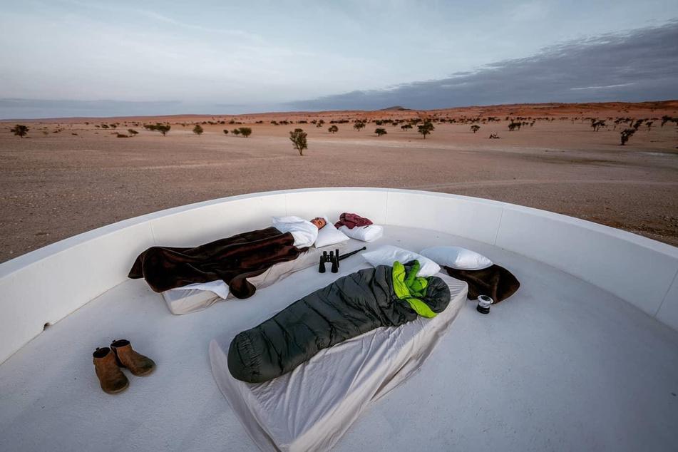 Familie Kahl schlief auch unter freiem Himmel.