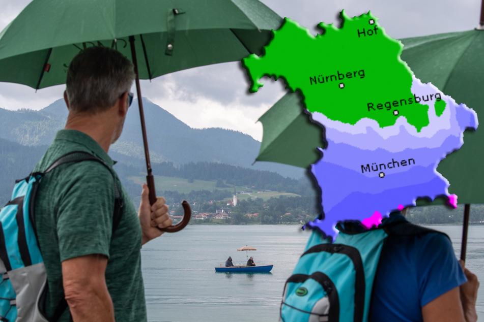 Wolkig, kalt und nass: Dauerregen und starke Winde in Bayern