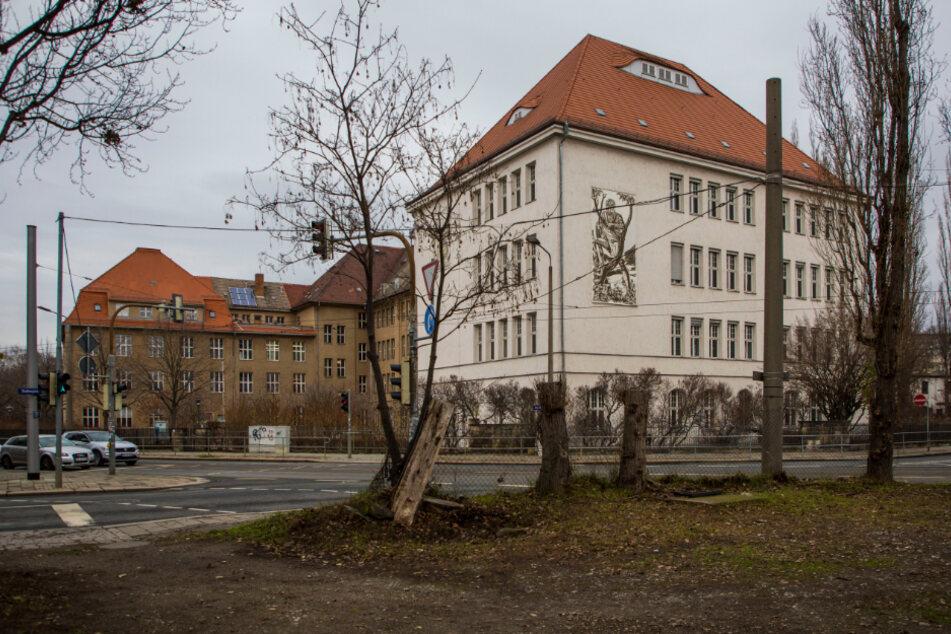 Das Schulgebäude des Gymnasiums Cotta soll ab Ende Februar saniert werden. Deshalb muss die Schule raus.