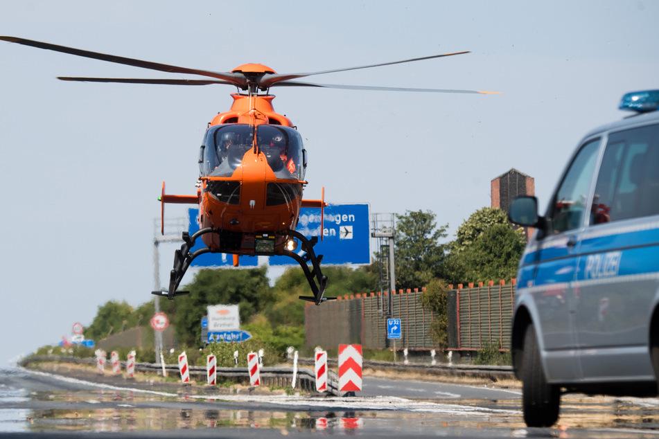 Zwei schwere Unfälle auf A7: Neun Menschen verletzt, ein Toter