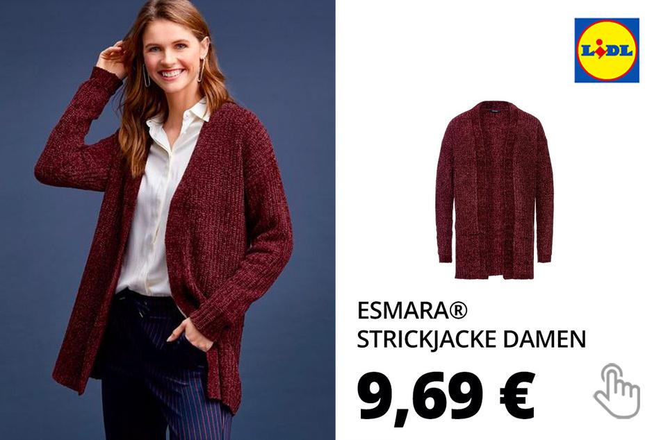 ESMARA® Strickjacke Damen, mit überschnittenen Schultern