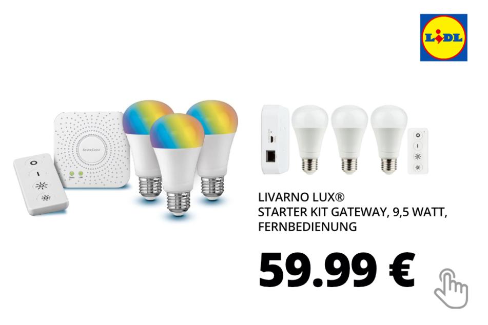 LIVARNO LUX® Starter Kit Gateway, 9,5 Watt, Fernbedienung