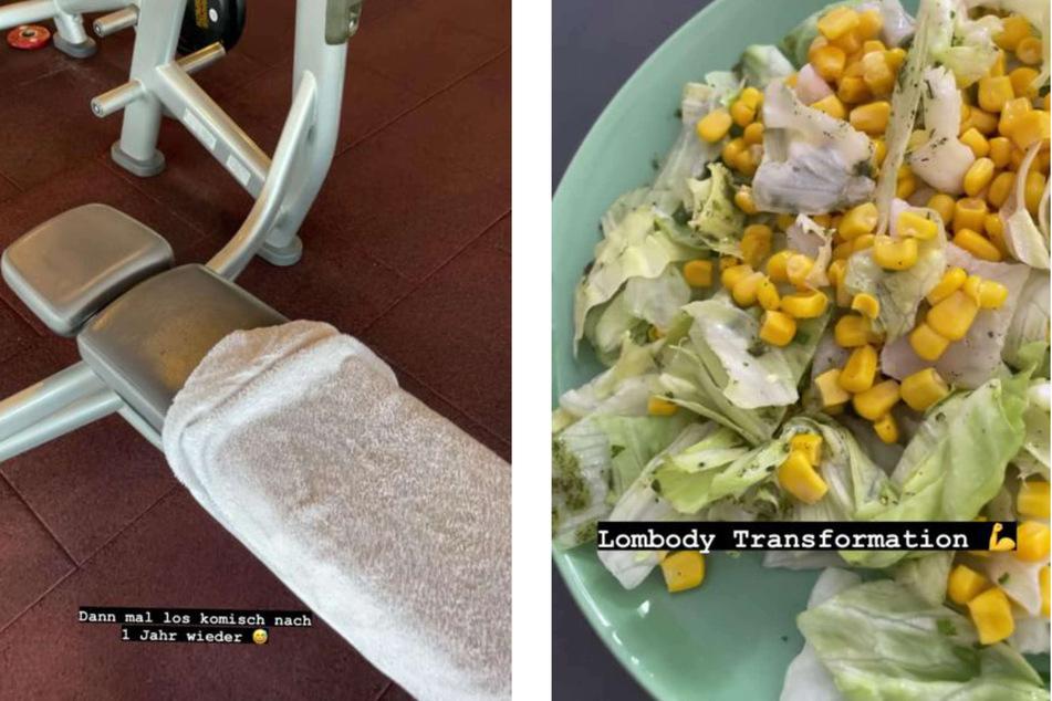 Pietro Lombardi (29) hat nach einem Jahr wieder ein Fitness-Studio besucht. Nach der Trainingseinheit gönnte er sich einen gesunden Salat.