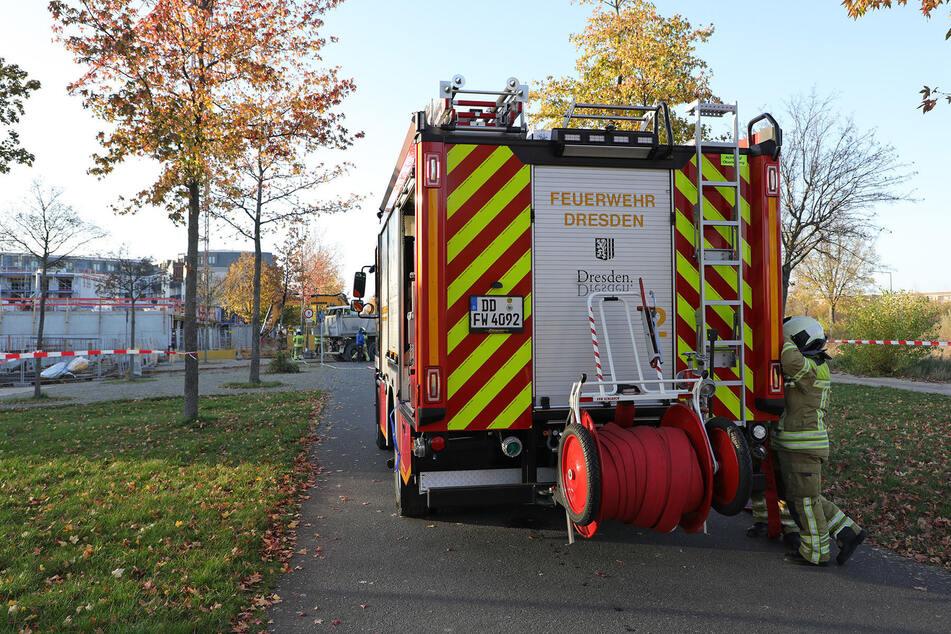 Die Feuerwehr war schnell vor Ort. 22 Einsatzkräfte waren insgesamt vor Ort.