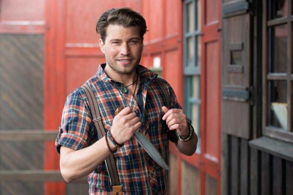 Schauspieler Raúl Richter (32) wird auf einem Pressetermin als einer der Hauptdarsteller der Karl-May-Spiele vorgestellt.