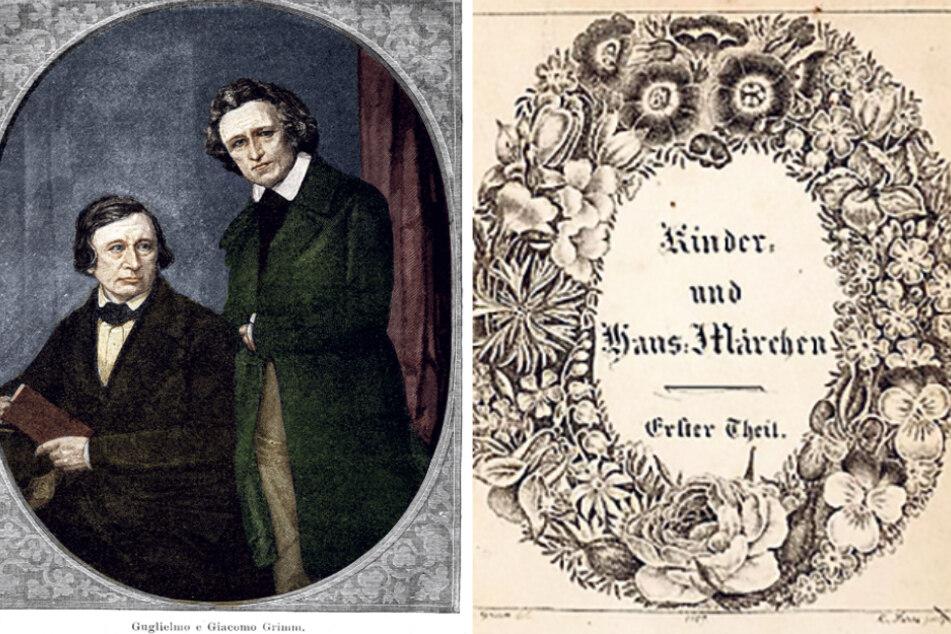 """Ihre Märchensammlung machte die Gebrüder Grimm weltberühmt. Im Jahr 1812 wurden die """"Kinder- und Hausmärchen"""" erstmals veröffentlicht. (Bildmontage)"""