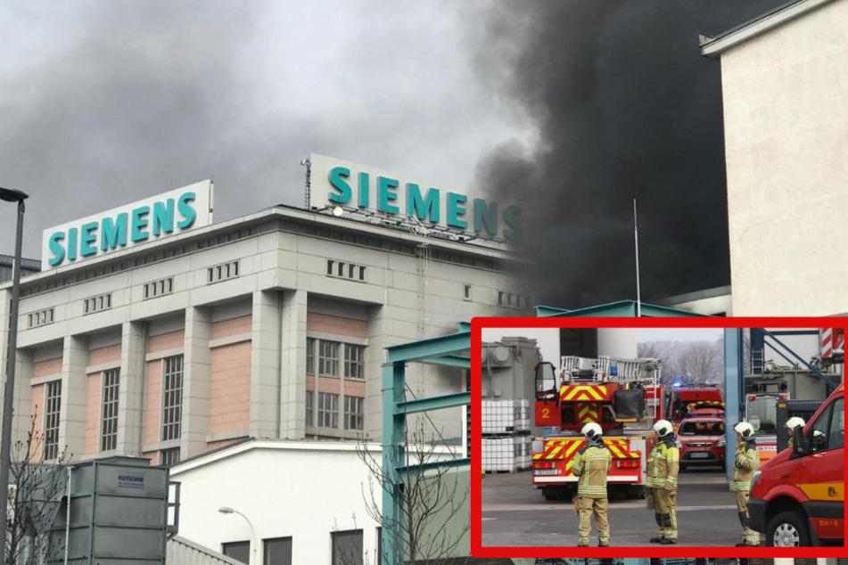 Dresden: Feuerwehr bei Siemens-Werk in Dresden: Geschäfte und Büros evakuiert