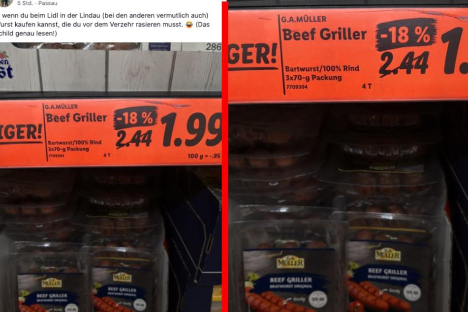 Facebook-User geht in Supermarkt einkaufen und lacht sich über Angebot schlapp