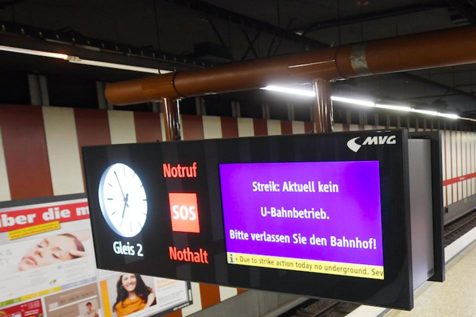 München: Streik in München: Keine U-Bahn, Bus und Tram nur eingeschränkt