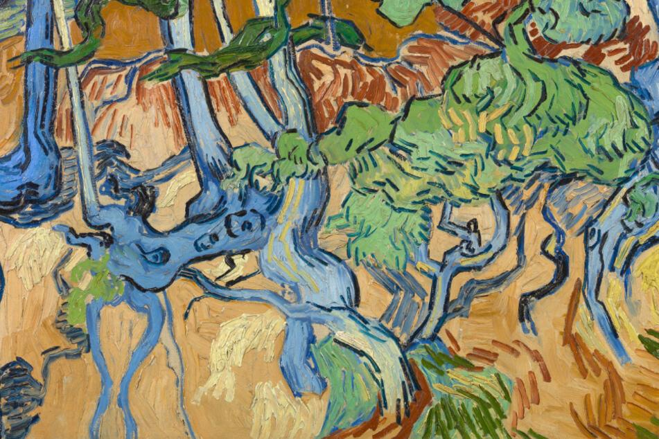 """""""Baumwurzeln"""" (1890), das letzte Gemälde von Vincent van Gogh, aus der Kollektion Van Gogh-Museum."""