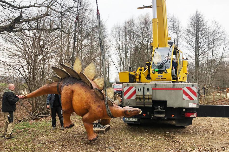 Ein neuer Dino erreicht den Freizeitpark Plohn.
