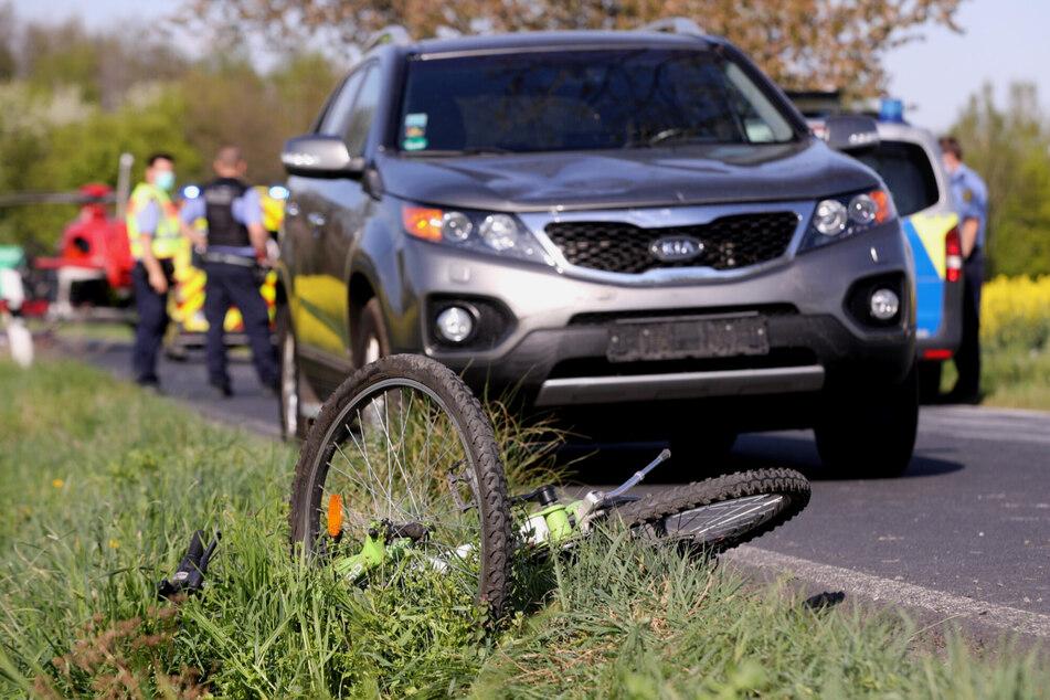 In Klipphausen stieß ein Kind auf einem Fahrrad mit einem entgegenkommenden Kia zusammen.