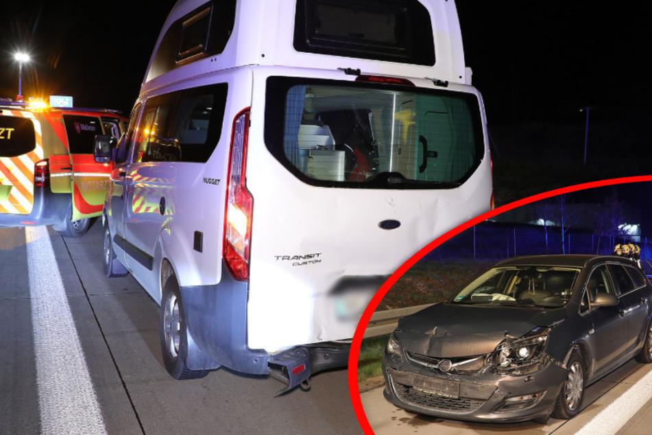 Unfall A4: Unfall auf der A4: Opel kracht Wohnmobil ins Heck!